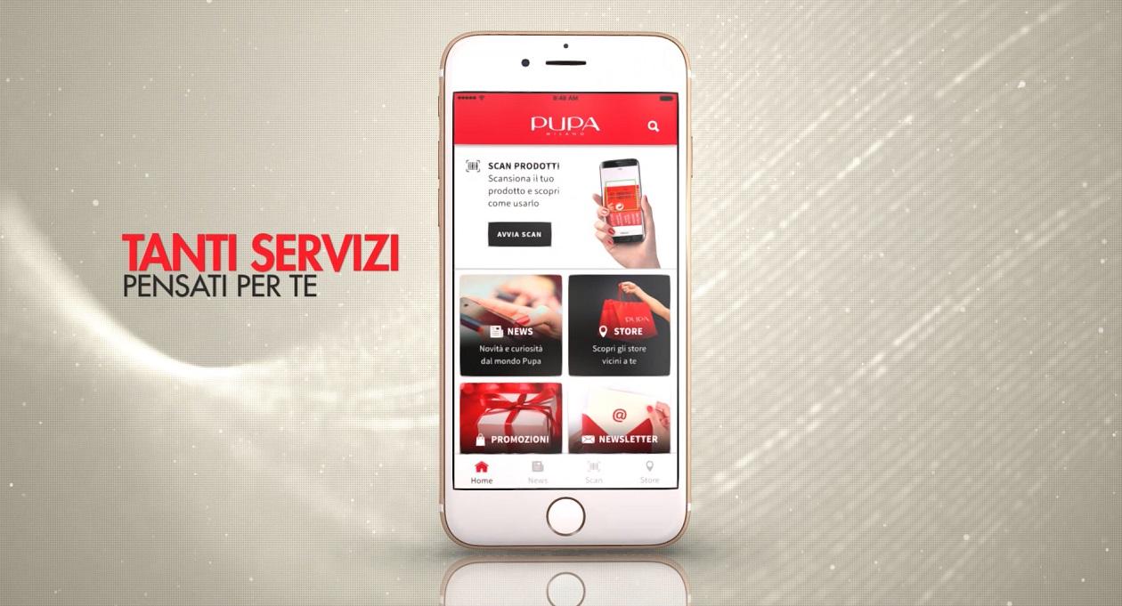 Scarica gratis l'app di PUPA dagli store iOs e Android: Porta PUPA sempre con te!