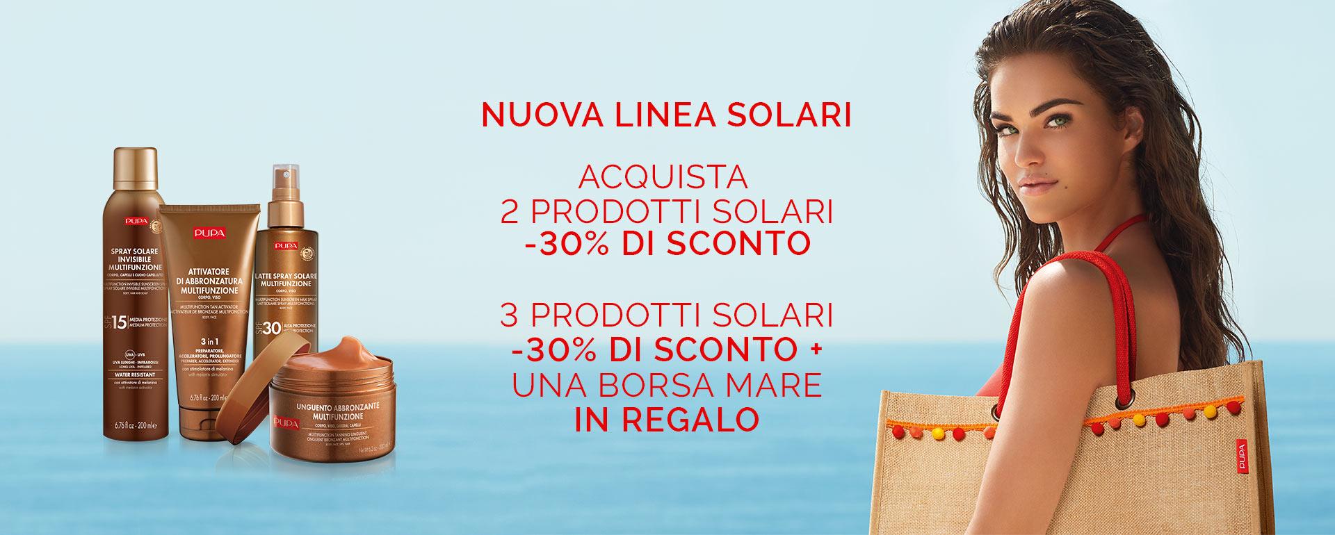 Promo solari - PUPA Milano
