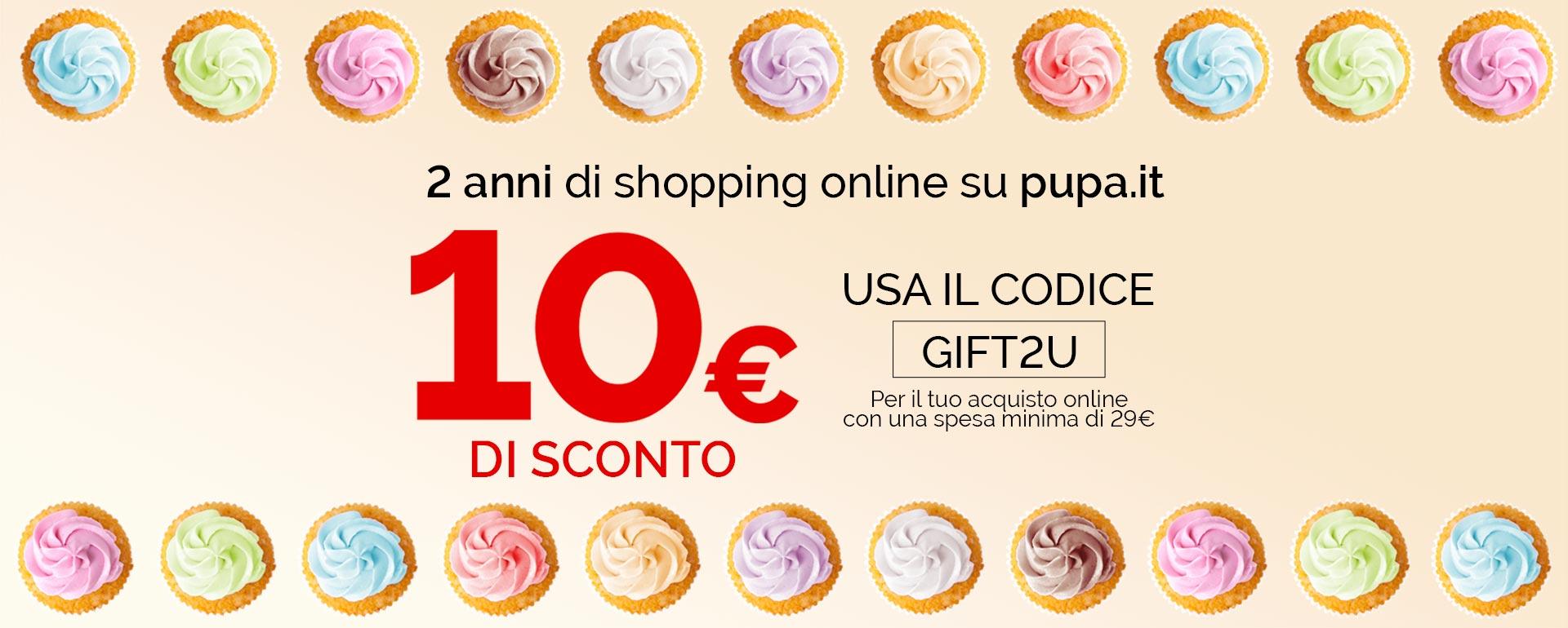 2 anni di shopping online - PUPA Milano